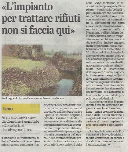 Giornale di Brescia 22 agosto 2020